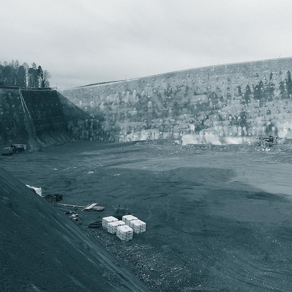 Erweiterung Deponie Tambrig ZH | Baugrubensicherung mit Nagelwand