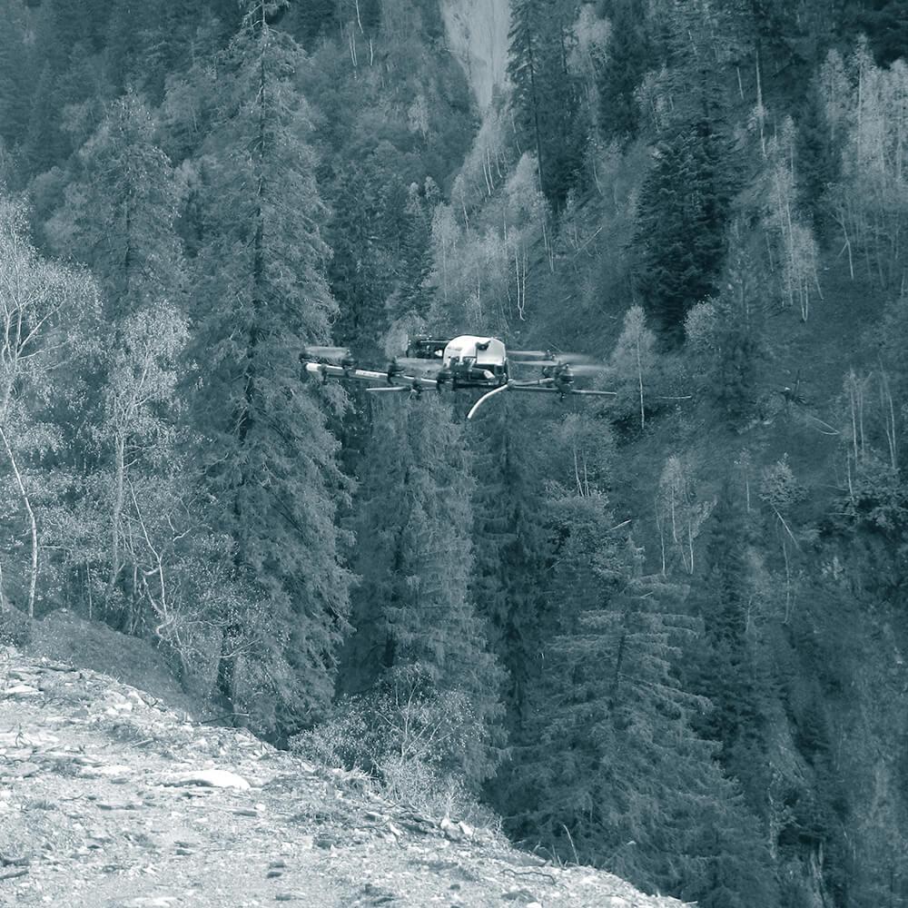 Drohnenvermessung für Visualisierung und Volumenberechnung