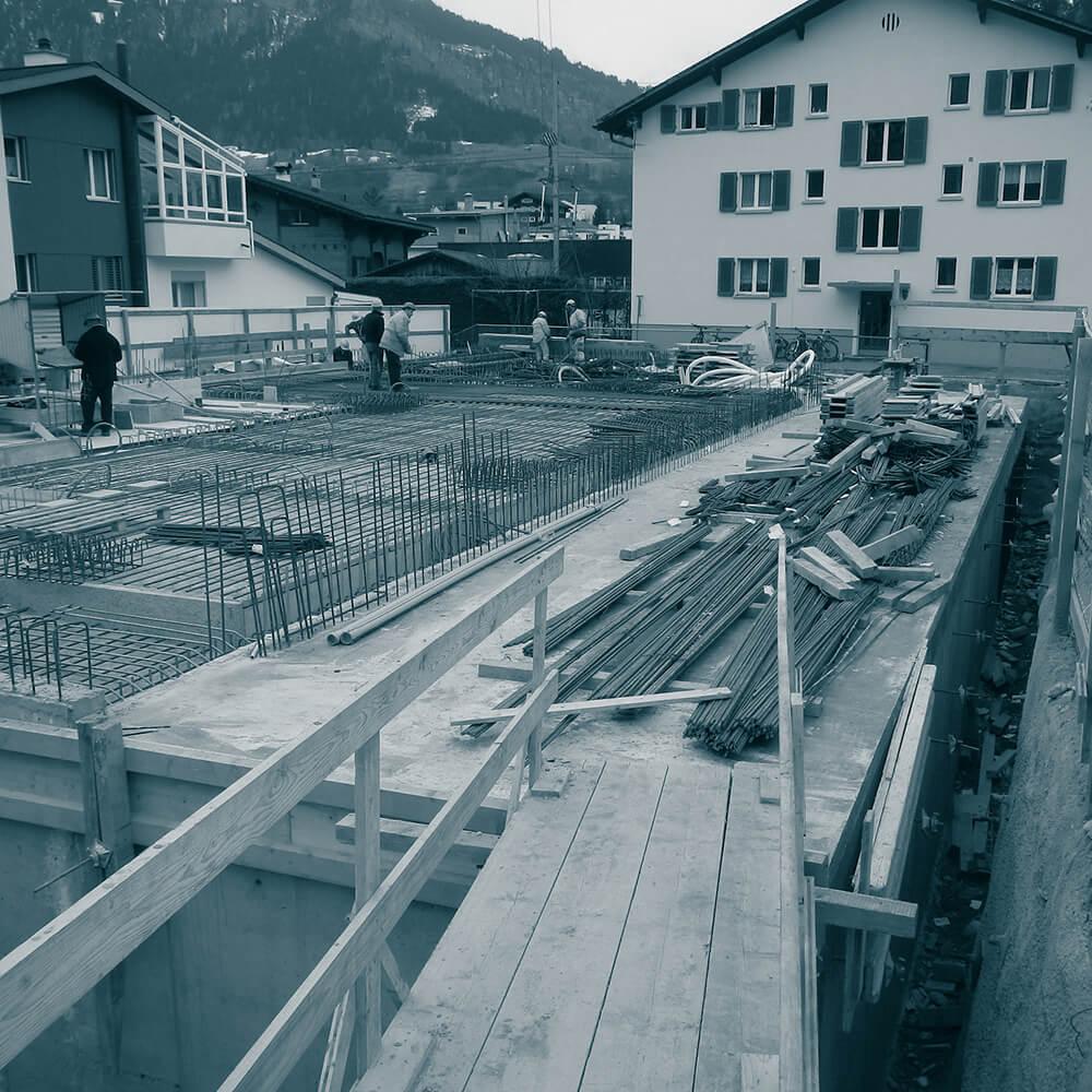 Cavigelli Ingenieure AG | Neubau Bürogebäude, Bewehrung Decke über Untergeschoss